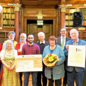 Cölber Arbeitskreis Flüchtlinge mit dem Preis der Solidarität ausgezeichnet